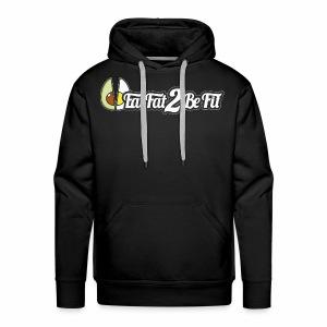 Hoodie noir EatFat2BeFit avant et dos - Sweat-shirt à capuche Premium pour hommes