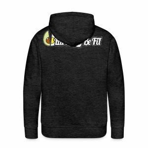 Hoodie charbon EatFat2BeFit avant et dos - Sweat-shirt à capuche Premium pour hommes