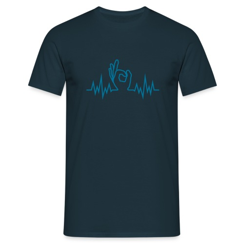 Wave-Finger-Hole - Männer T-Shirt