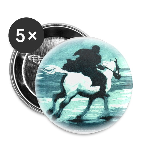 Schimmelreiter-Motiv - Buttons groß 56 mm