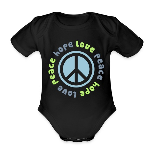Comhope love peace - Organic Short-sleeved Baby Bodysuit