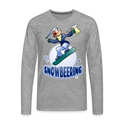 Snowbeering oder Snowboarden - Männer Premium Langarmshirt