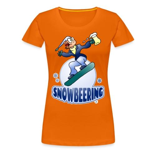 Snowbeering oder Snowboarden - Frauen Premium T-Shirt