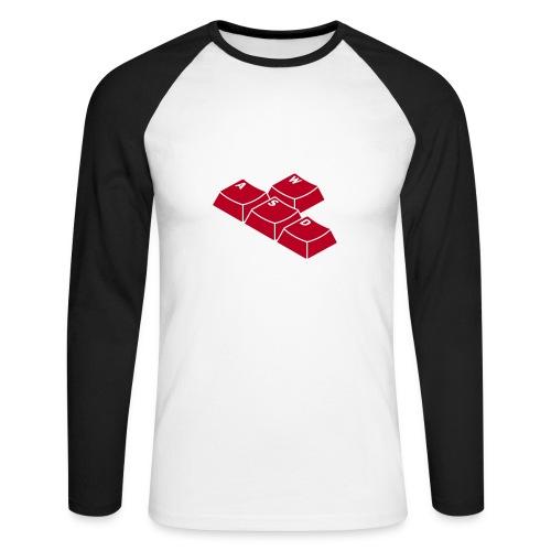 Tastatur - Männer Baseballshirt langarm