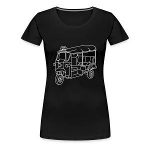 Tuk-Tuk, Taxi aus Indien oder Thailand - Frauen Premium T-Shirt