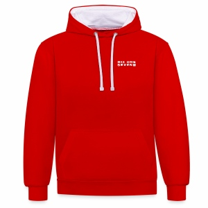 Six One Seven 1 | Contrast Colour Hoodie | RED / WHITE - Contrast Colour Hoodie
