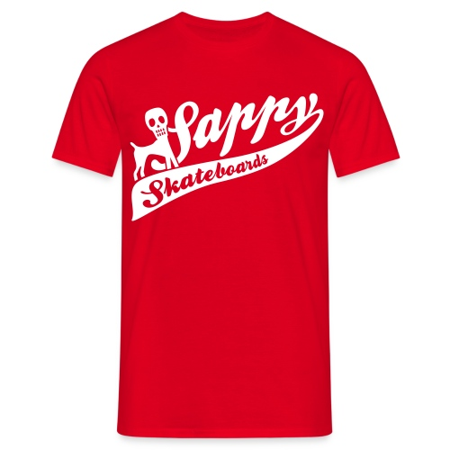 basic tee red - T-shirt herr