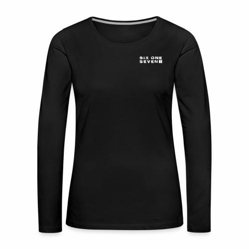 Six One Seven 1   Premium Long Sleeve Shirt   BLACK - Women's Premium Longsleeve Shirt