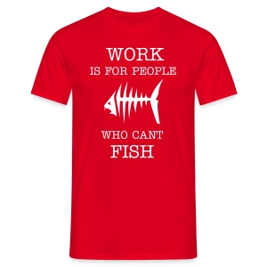 Work red - T-shirt herr
