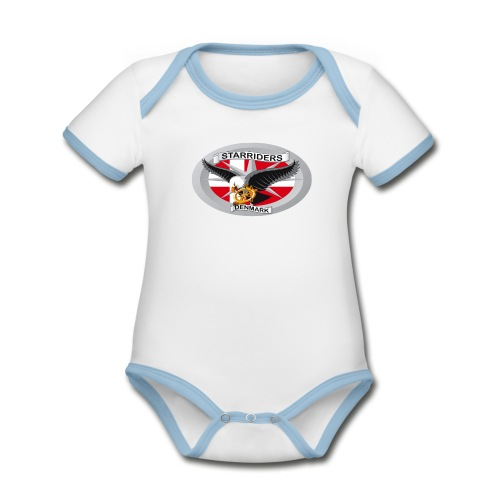 Babybody. - Kortærmet ækologisk babybody i kontrastfarver