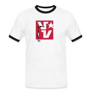 VV logo  - Mannen contrastshirt