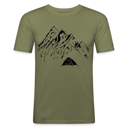 Camping Männer T-Shirt  - Männer Slim Fit T-Shirt