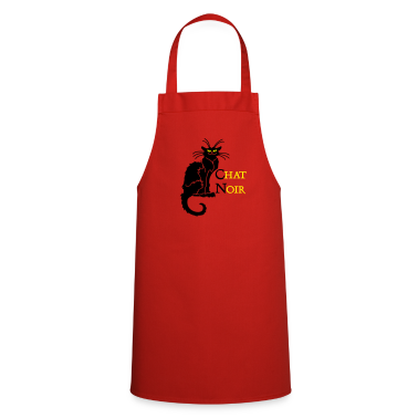 Red chat noir 'n (text, 2c)  Aprons