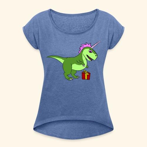 T-shirt femme Tyra Cadeau - T-shirt à manches retroussées Femme