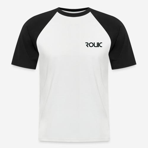 Rouic Baseball T-Shirt Black Design - Men's Baseball T-Shirt