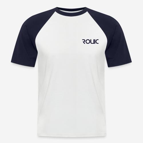 Rouic Basebal T-Shirt Blue Design - Men's Baseball T-Shirt