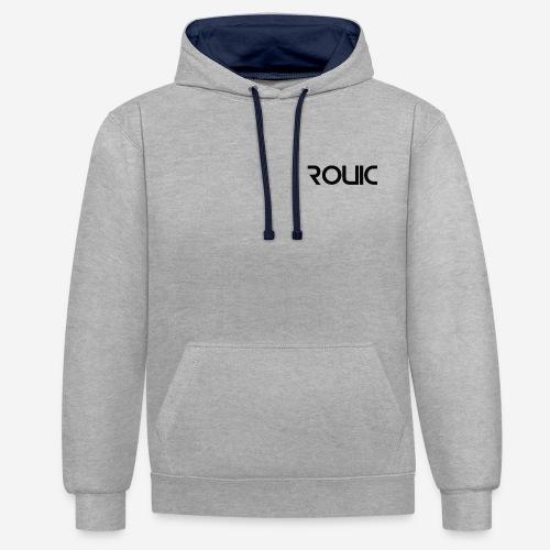 Rouic Hoodie Black Design - Contrast Colour Hoodie