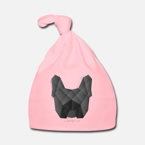 Geometric Frenchie black - Baby Mütze