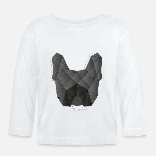 Geometric Frenchie black - Baby Langarmshirt