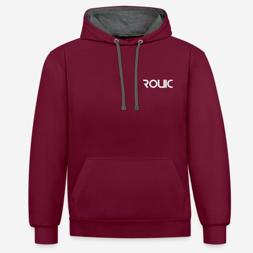 Rouic Hoodie White Design - Contrast Colour Hoodie