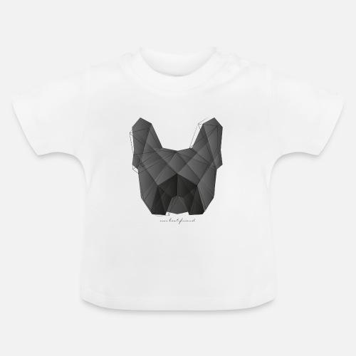Geometric Frenchie black - Baby T-Shirt