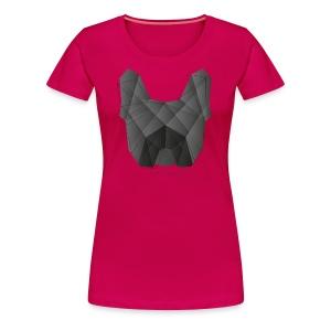 Geometric Frenchie black - Frauen Premium T-Shirt