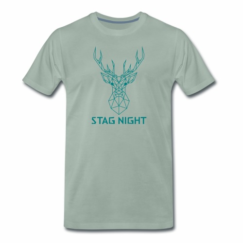 Stag Night Geometric (MENS) - Men's Premium T-Shirt