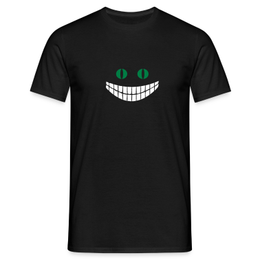Black Alice in Wonderland: Cheshire cat (2c) Men's T-Shirts