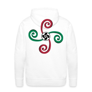 Croix Basque - Lauburu - Sweat-shirt à capuche Premium pour hommes