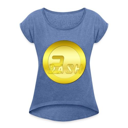 2 Dashcoin - Frauen T-Shirt mit gerollten Ärmeln
