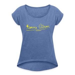 Pierre Citronelle - Vrouwen T-shirt met opgerolde mouwen