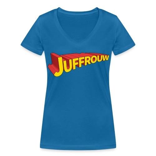 Juf is een held - V-hals - Vrouwen bio T-shirt met V-hals van Stanley & Stella