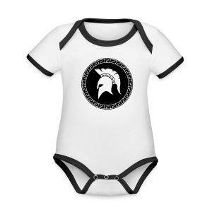 spartan Organic Baby Contrasting Bodysuit  - Organic Baby Contrasting Bodysuit