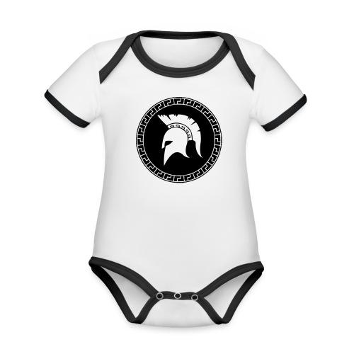 spartan Organic Baby Contrasting Bodysuit  - Organic Baby Contrasting Bodysuit