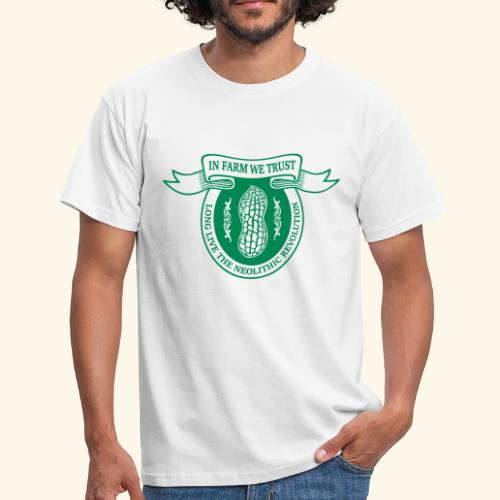 In Farm We Trust: Neolithic Revolution - Logo Grün - Männer T-Shirt