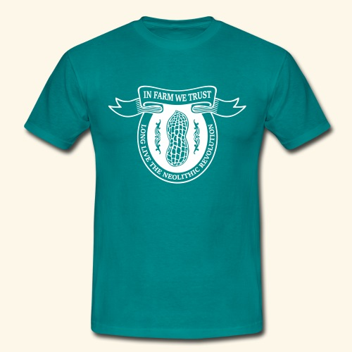 In Farm We Trust: Neolithic Revolution - Logo Weiß - Männer T-Shirt