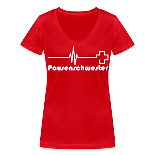 Shirt Pause - Frauen Bio-T-Shirt mit V-Ausschnitt von Stanley & Stella