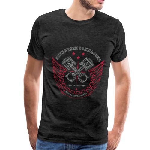 BRDSTN Classic 01 Big Graphite Premium - Männer Premium T-Shirt