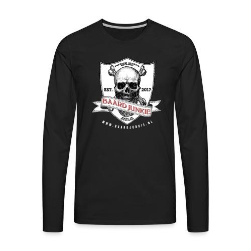 Baardjunkie - Mannen Premium shirt met lange mouwen