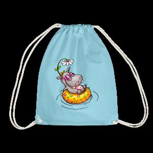gym bag hippo - Turnbeutel