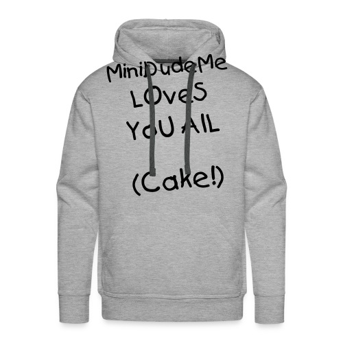 minidudeme loves you all cake - Men's Premium Hoodie