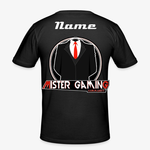 Clan| Name & Logo - Männer Slim Fit T-Shirt