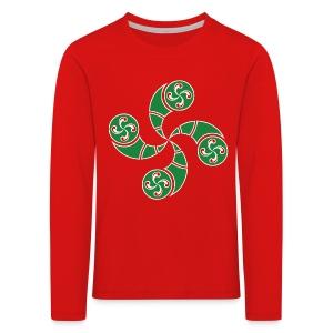 Croix du Pays Basque - T-shirt manches longues Premium Enfant