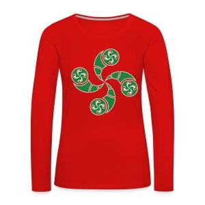 Croix du Pays Basque - T-shirt manches longues Premium Femme