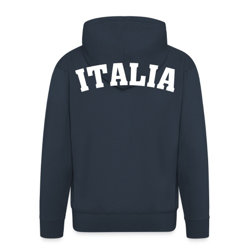 Veste Bleu à Capuche Italia - Veste à capuche Premium Homme