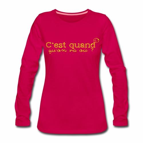 World&Fly - T-shirt manches longues - T-shirt manches longues Premium Femme
