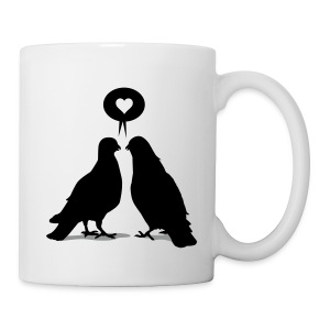 Love saying Doves - Two Valentine Birds_2c - Tasse