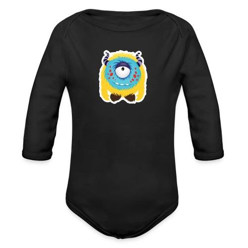 Süßes kleines glückliches Monster Baby Langarm Body - Baby Bio-Langarm-Body