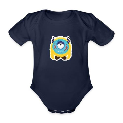 Süßes kleines glückliches Monster Baby Body - Baby Bio-Kurzarm-Body