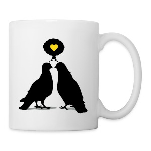 Love thinking Doves - Two Valentine Birds_3c - Tasse